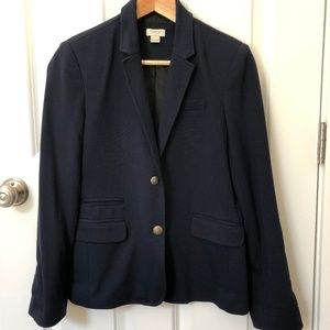J.Crew navy ponte schoolboy blazer 8